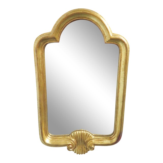 Italian Arched Gold Gilt Mirror For Sale
