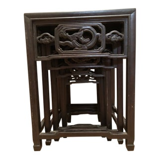 Asian Nesting Tables - Set of 4 For Sale