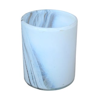 1970's Mid-Century Hand Blown Abstract Art Glass Planter For Sale