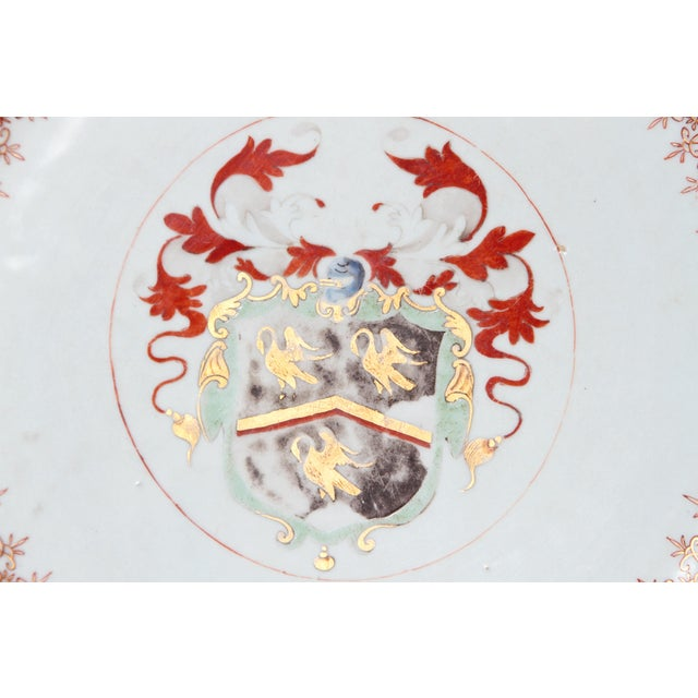 Gold Large 18th Century Chinese Export Armorial Charger For Sale - Image 8 of 13