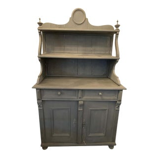 1920s French Provincial Cabinet With Hutch For Sale