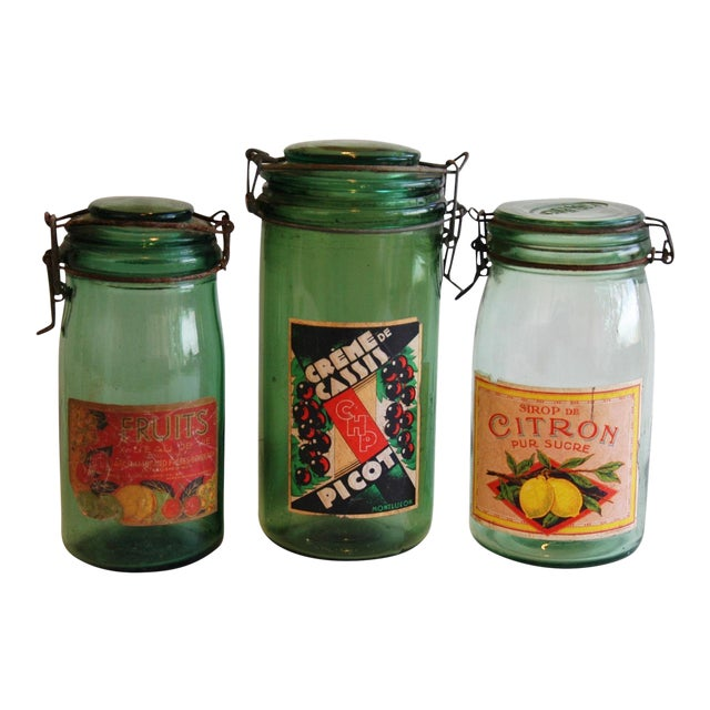 French 1930s Canning Preserve Jars - Set of 3 - Image 1 of 8