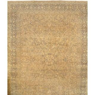Pasargad N Y Genuine Antique Persian Mashhad Rug - 13′7″ × 18′9″ For Sale