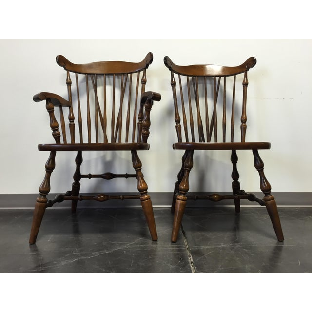 Country Temple Stuart Rockingham Windsor Dining Chairs -Set of 6 For Sale - Image 3 of 11