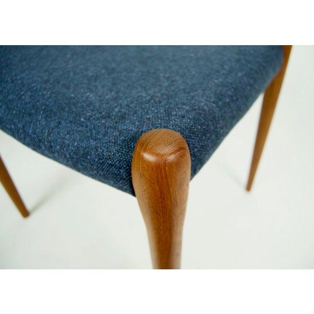Blue Niels O. Møller Teak Model 79 Dining Chairs - Set of 4 For Sale - Image 8 of 12