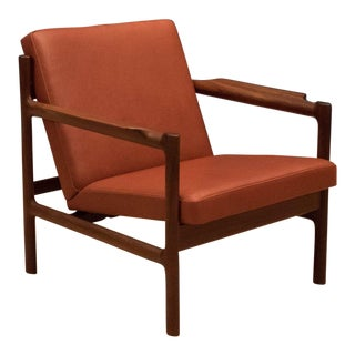 Mid Century Modern Bruksbo Leather Lounge Chair For Sale