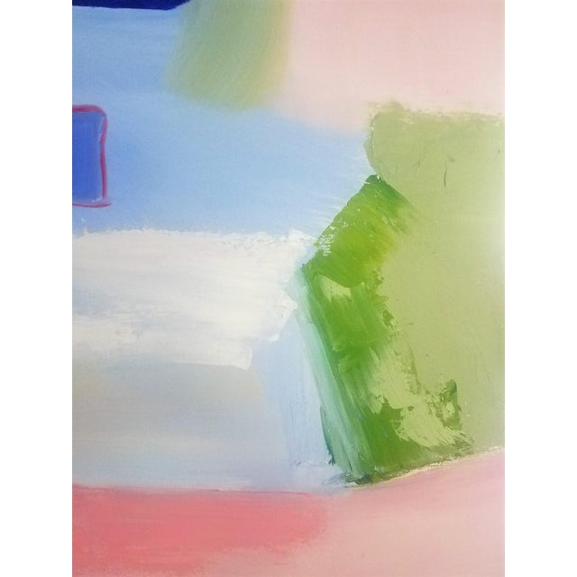 """2010s Abstract Contemporary """"Sloane Square"""" Oil Painting by Christine Frisbee For Sale - Image 5 of 10"""