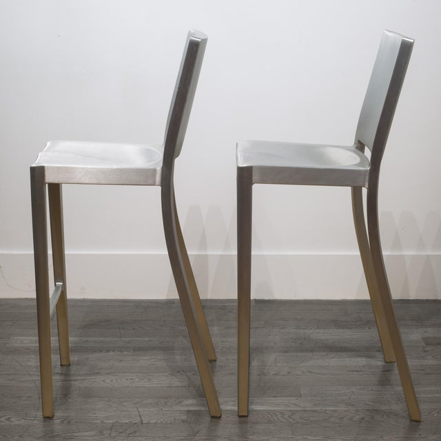 Set of 4 Emeco Hudson Counter Stools by Philippe Starck For Sale In San Francisco - Image 6 of 10