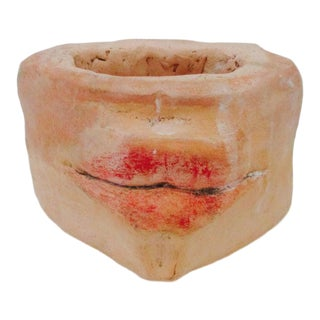 Late 20th Century Surreal Head Lips Planter Face Vase Pot For Sale
