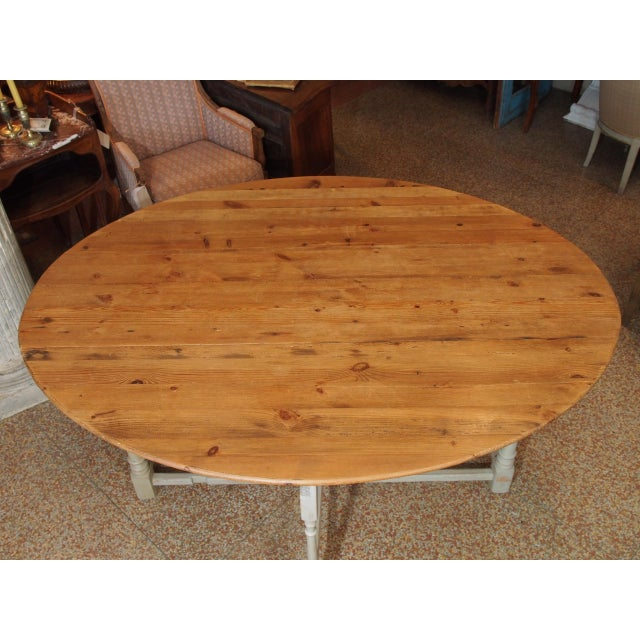 Rustic European 19th Century Swedish Peach Pine Dining Table For Sale - Image 3 of 13