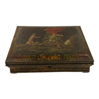 18thC Large Painted Box For Sale
