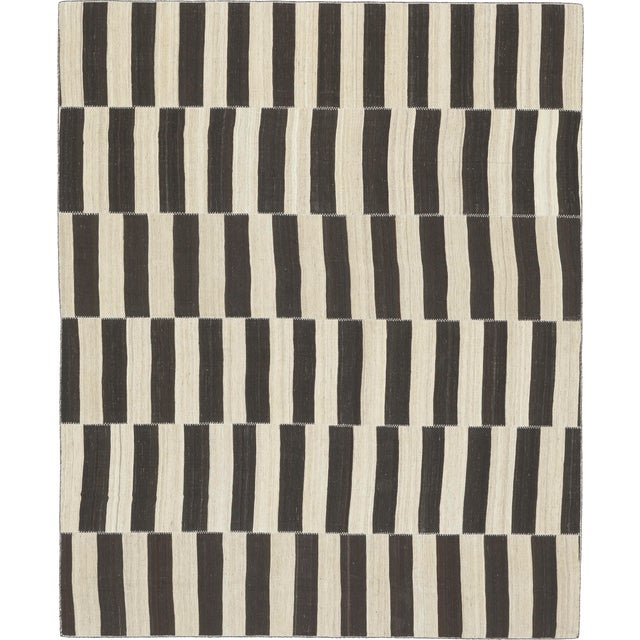 Vintage Persian Kilim Composition Rug- 9′ × 11′ For Sale In New York - Image 6 of 6