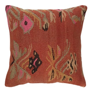 "Reclaimed Mid-Century Kilim Pillow | 16"" For Sale"