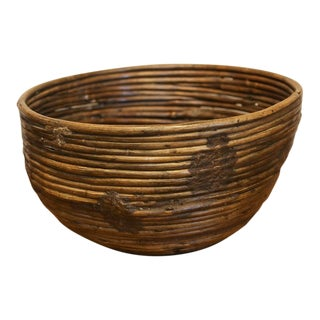 Rattan Antique Basket For Sale