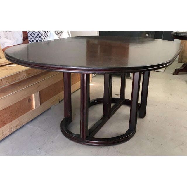 """Rare Vintage McGuire Furniture Company Solid Woof Extension Dining Table. Include two leaves each 18"""" wide."""