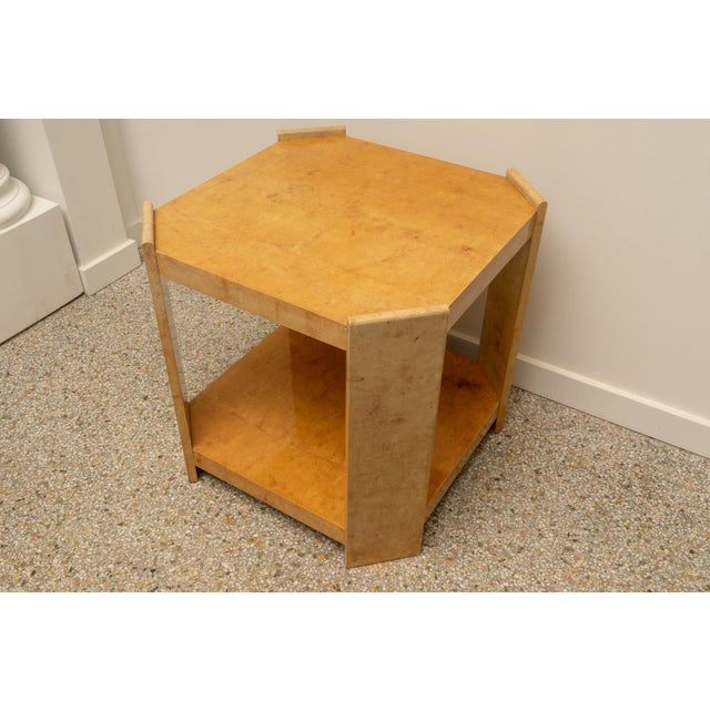 Animal Skin Modern Goatskin End Tables - a Pair For Sale - Image 7 of 10