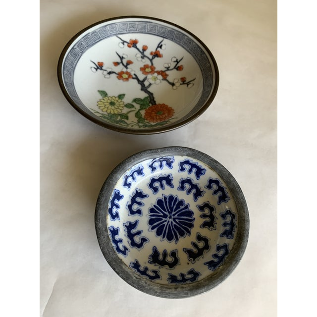 Midcentury Asian Chinoiserie Decor Trays Bowls For Sale - Image 11 of 12