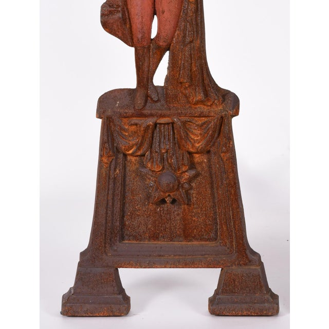 Pair of Mid-20th Century George Washington Andirons For Sale - Image 4 of 8