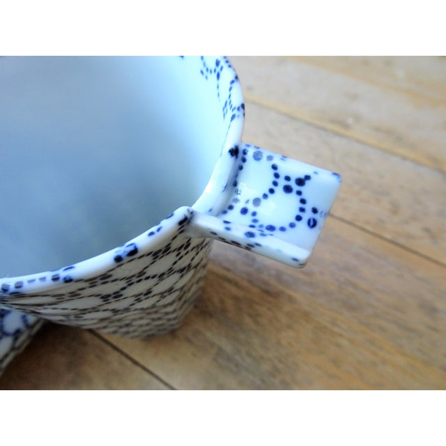 Blue and White Sake Bottle and Cups - Set of 3 For Sale In Seattle - Image 6 of 11