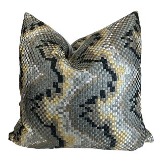 "Beacon Hill ""Copa Mosaic Platinum"" 22"" Pillows - a Pair For Sale"