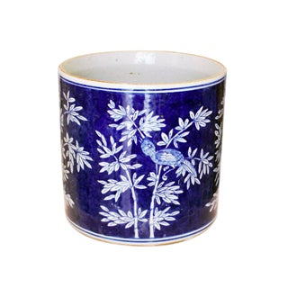 Blue and White Bamboo Orchid Pot
