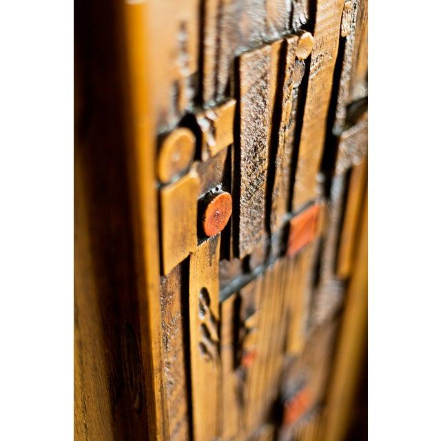 "Altavista Lane 1970s Lane ""Pueblo"" Brutalist Armoire Dresser For Sale - Image 4 of 6"