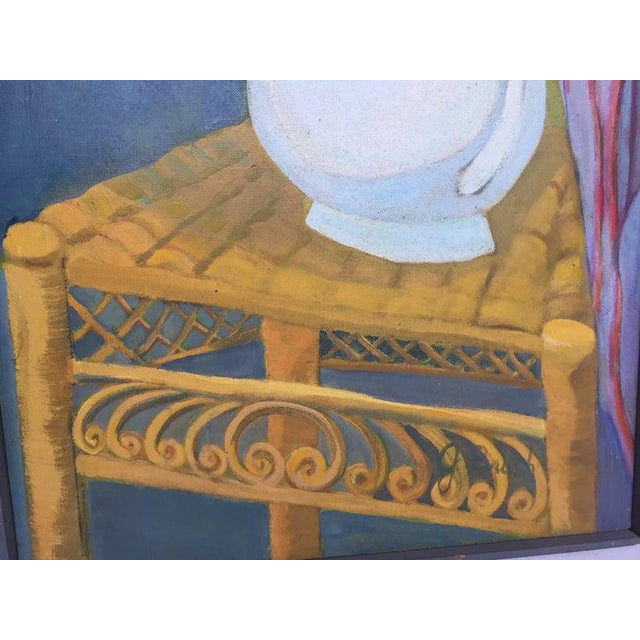 Canvas 1980s Original Oil on Canvas Still Life Painting For Sale - Image 7 of 12