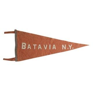 Antique Batavia n.y. Felt Flag Pennant