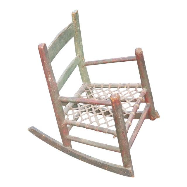 Fantastic Vintage Childs Distressed Wood Rocking Chair Machost Co Dining Chair Design Ideas Machostcouk