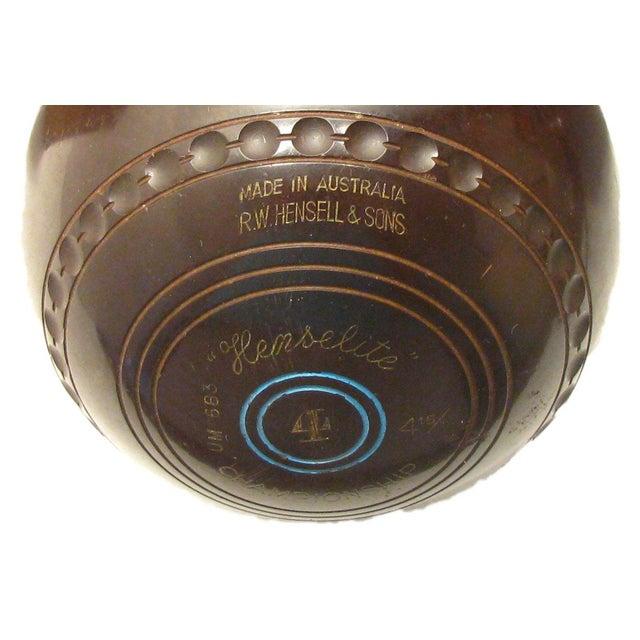 Vintage English Lawn Bowls w/ Original Box - Set of 4 - Image 4 of 5