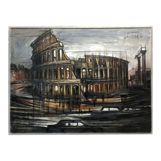 """1969 """"Colosseum in Rome"""" Oil Painting by Regis De Cachard"""
