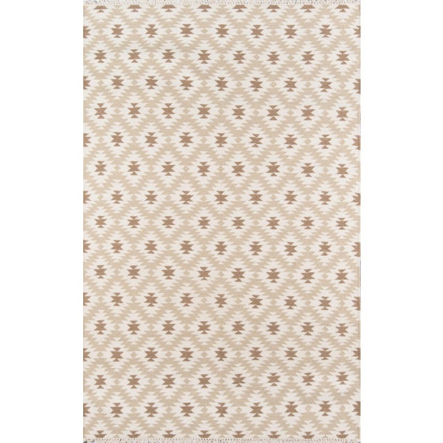"2010s Erin Gates Thompson Newbury Beige Hand Woven Wool Area Rug 3'6"" X 5'6"" For Sale - Image 5 of 5"