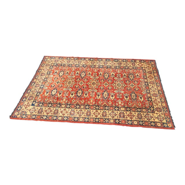 "Kazak Knotted Wool Rug -- 7'6"" x 11'3"" For Sale"