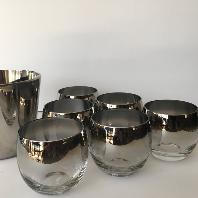Glass Mid-Century Vitreon Queens Lusterware Set - Set of 7 For Sale - Image 7 of 9