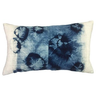Tie Dyed Indigo Batik Pillow