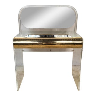 Hollywood Regency Style Lucite Vanity For Sale