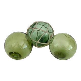 1960s Japanese Fishing Floats - Set of 3 For Sale