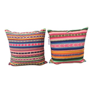 Jamie Lauren Designs Pillows - A Pair For Sale