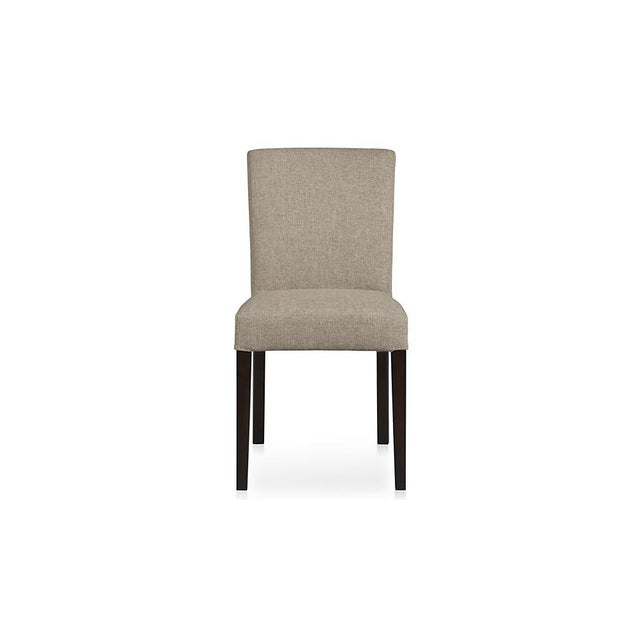 Crate & Barrel Lowe Upholstered Chairs - Pair - Image 4 of 4