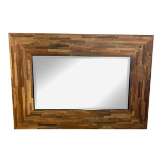 Crate & Barrel Seguro Wood Wall + Floor Mirror For Sale