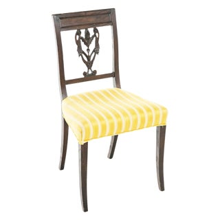 Carved Italian Side Chair For Sale