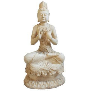 White Marble Quan Yin For Sale