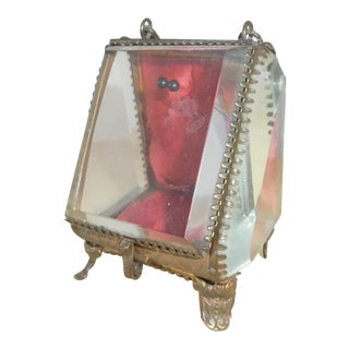 Vintage Brass Tone Display Box