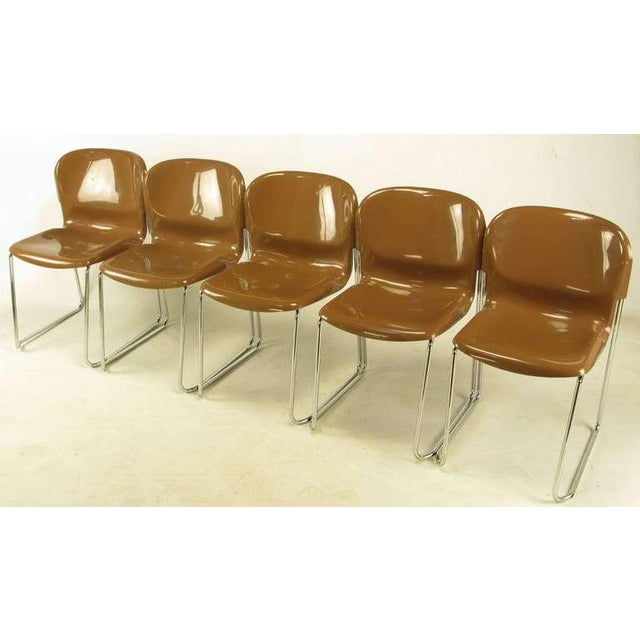 Four Gerd Lange West German Chrome SM 400 Swing Chairs - Image 3 of 9