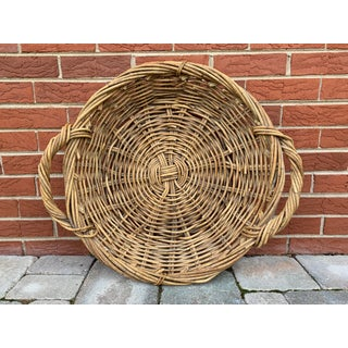 Vintage Wicker Basket Tray Preview