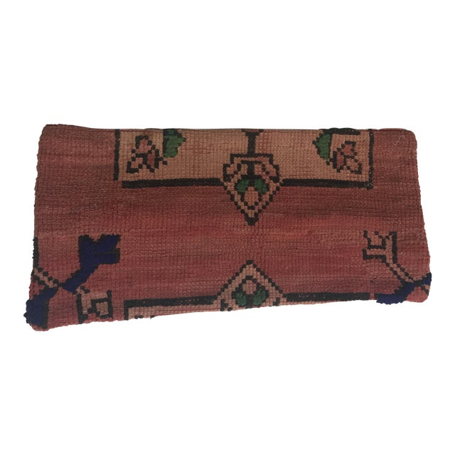 Vintage Moroccan Stuffed Wool Pillow - Image 1 of 9