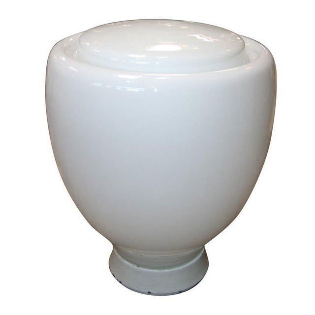 White Claudio Salocchi Milk Glass Table Lamp For Sale - Image 8 of 8