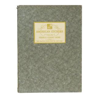 American Etchers, George Elbert Burr Book For Sale