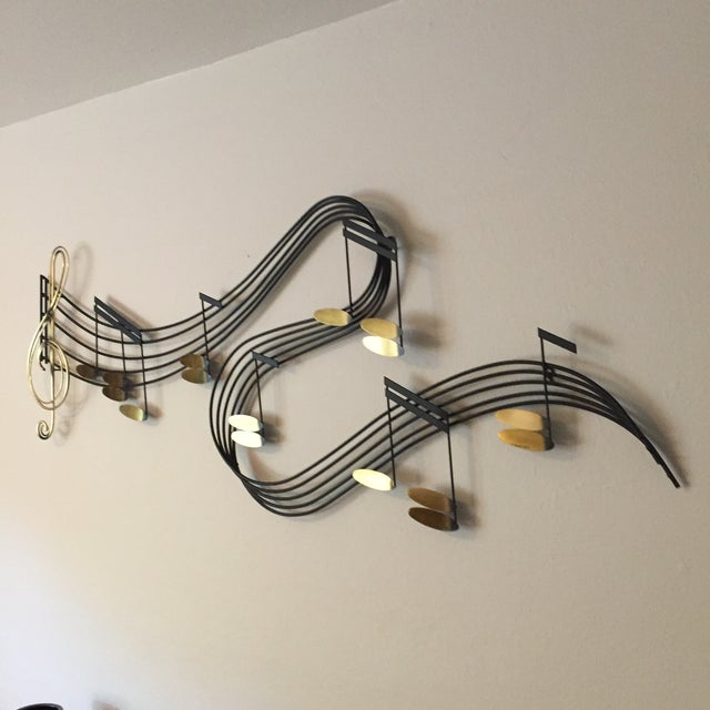 Curtis Jere C Jere Music Motif Wall Sculpture Signed For Sale - Image 4 of 7