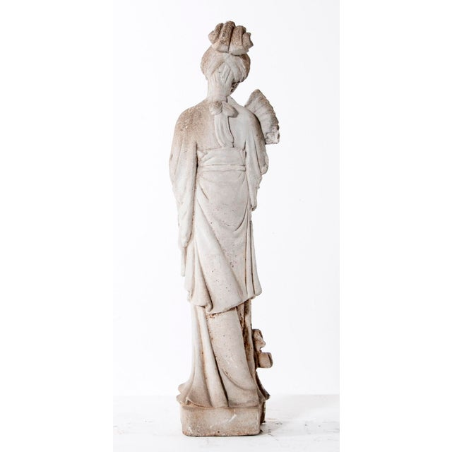 Mid Century Vintage Cast Stone Figure of a Goddess For Sale - Image 4 of 8